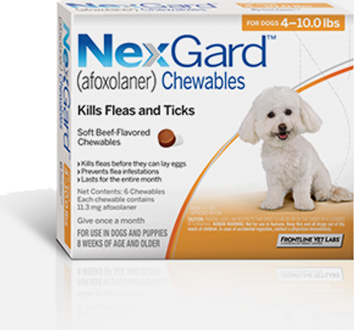 Nexgard for Dogs 4-10 lbs - 3 Pack
