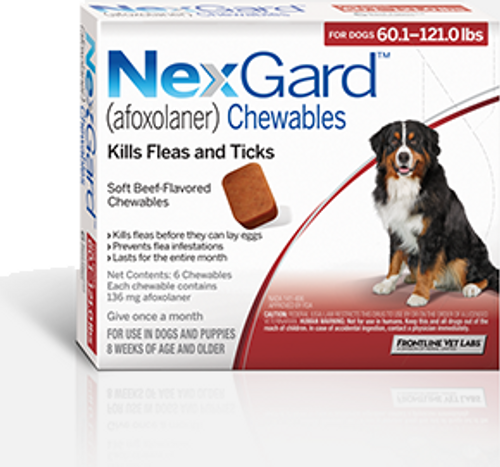 Nexgard for Dogs 60.1-121 lbs - 3 Pack
