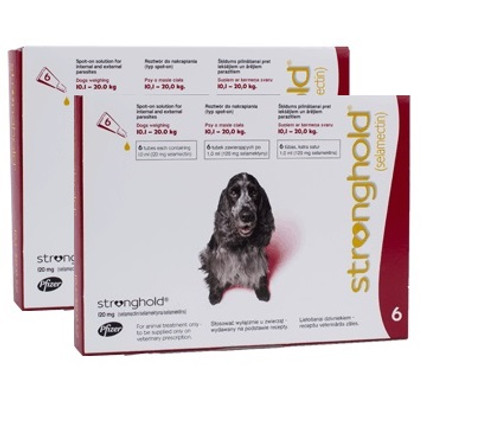 Stronghold for Dogs 20.1-40 lbs Red 12 Pack