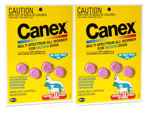 Canex Multi Spectrum All Wormer Tablets for Dogs