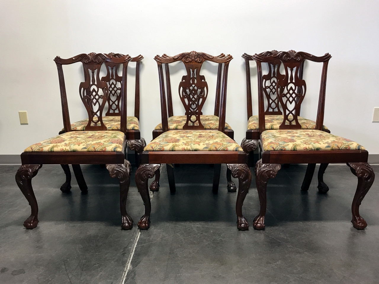 SOLD OUT HICKORY CHAIR Mahogany Chippendale Ball Claw Dining Side