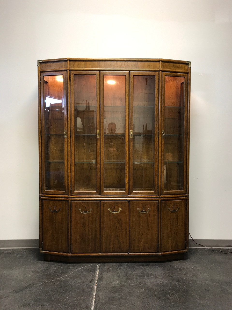 Awesome Black Lacquer China Cabinet