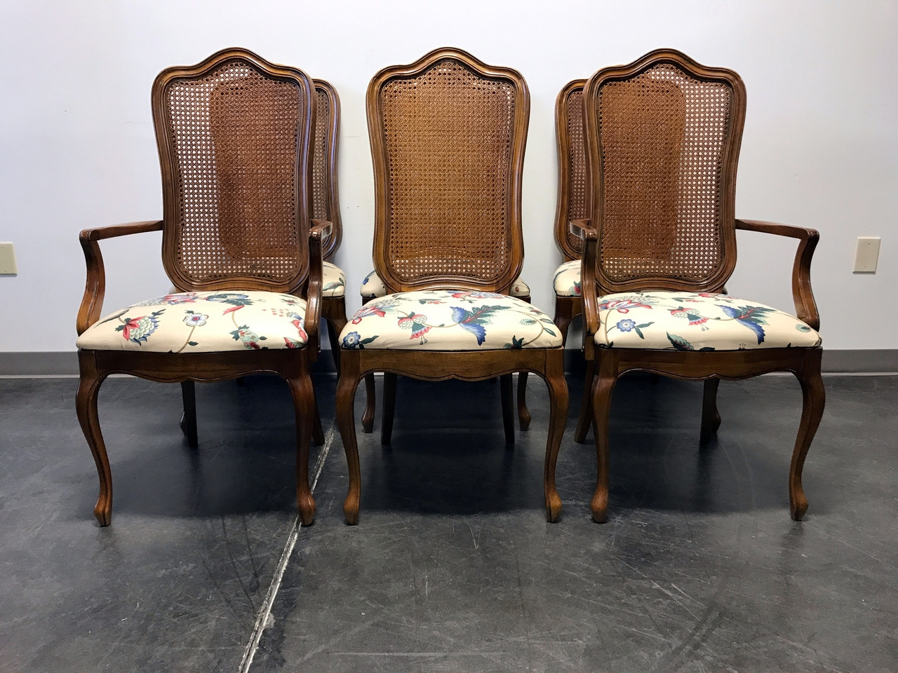 SOLD OUT THOMASVILLE French Country Provincial Cane Dining Chairs