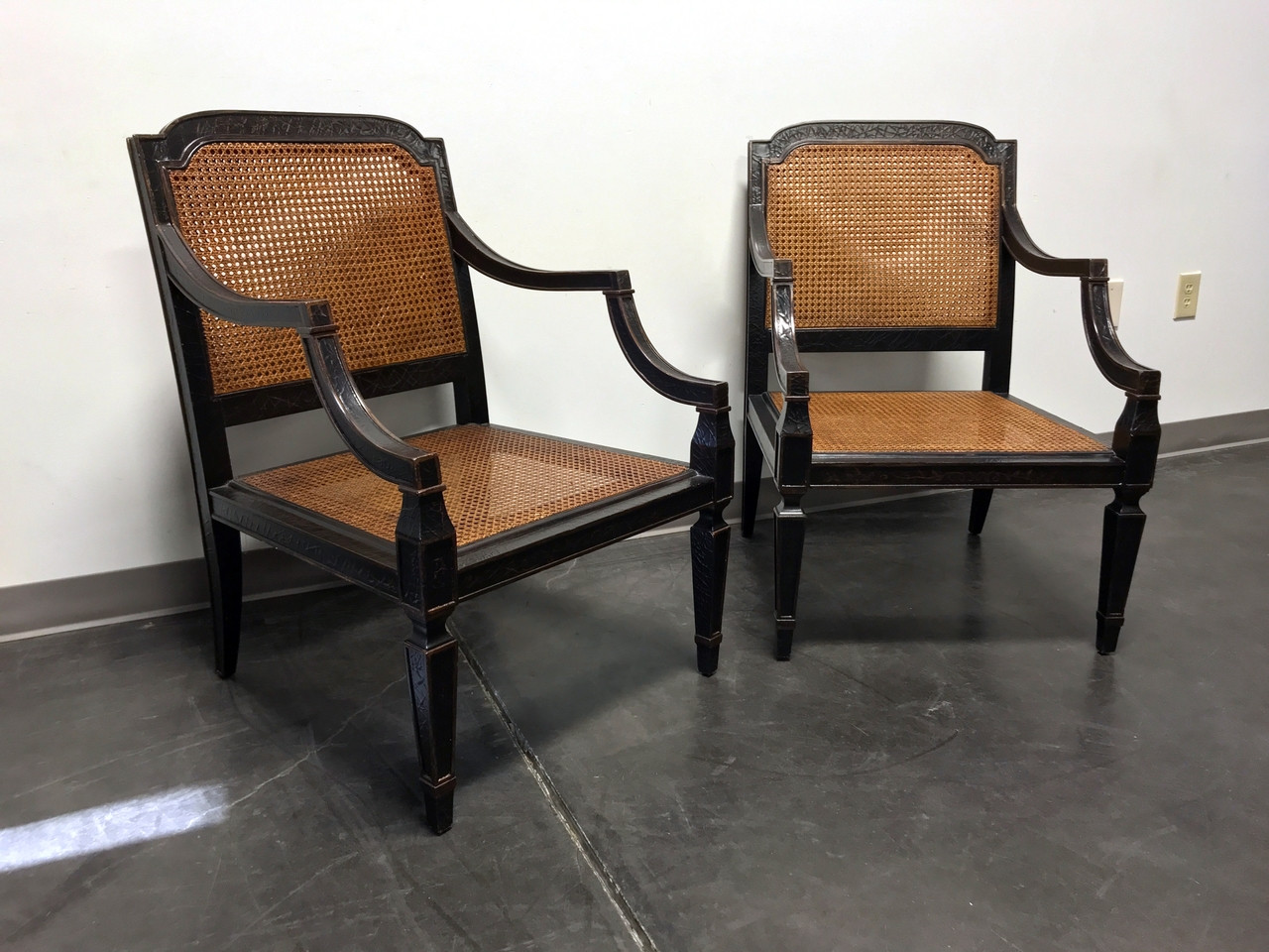 SOLD OUT BAKER Milling Road Sheraton Occassional Chairs Cane