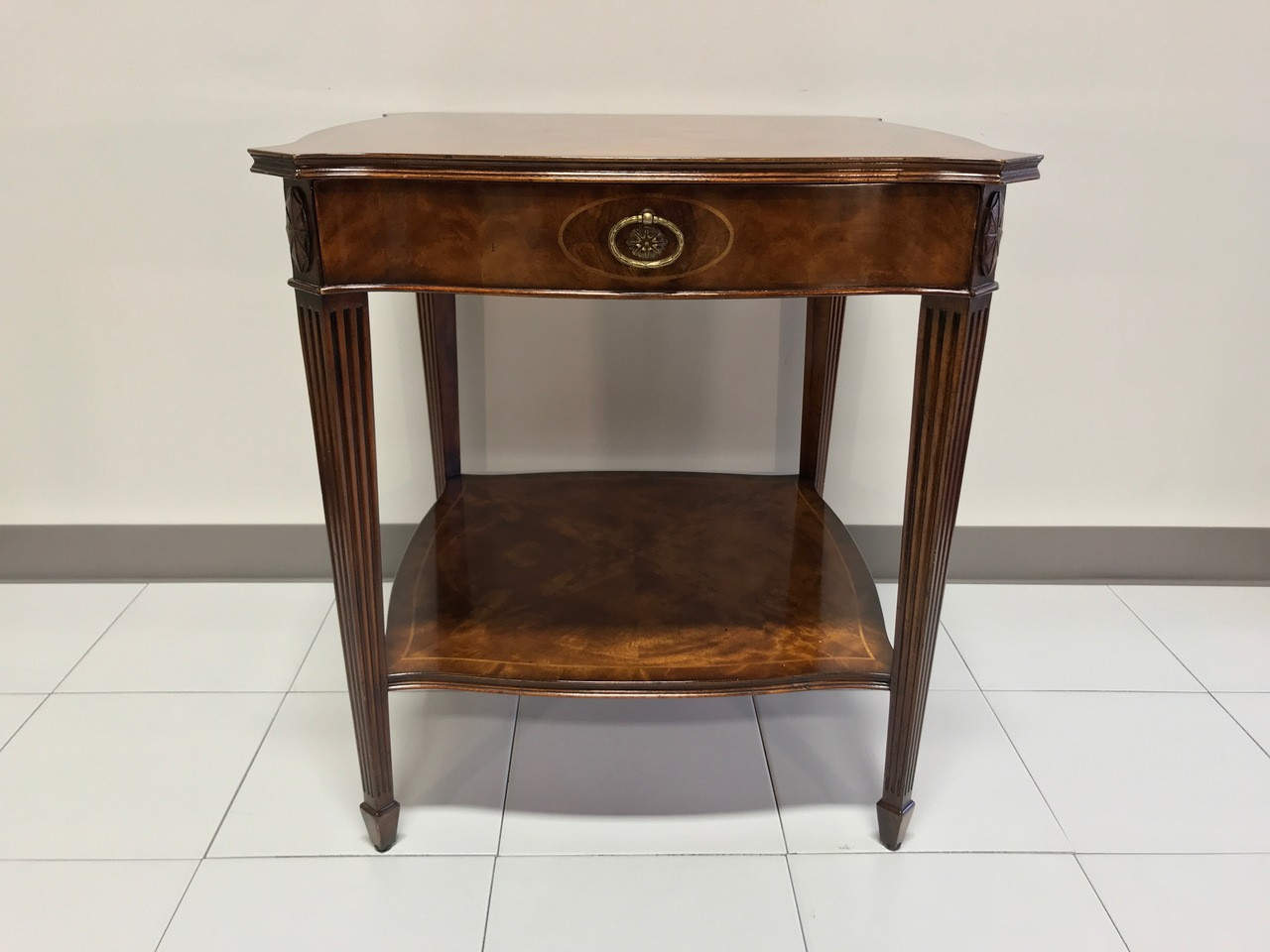 MAITLAND SMITH for Colony Furniture Aged Mahogany Inlaid Regency End