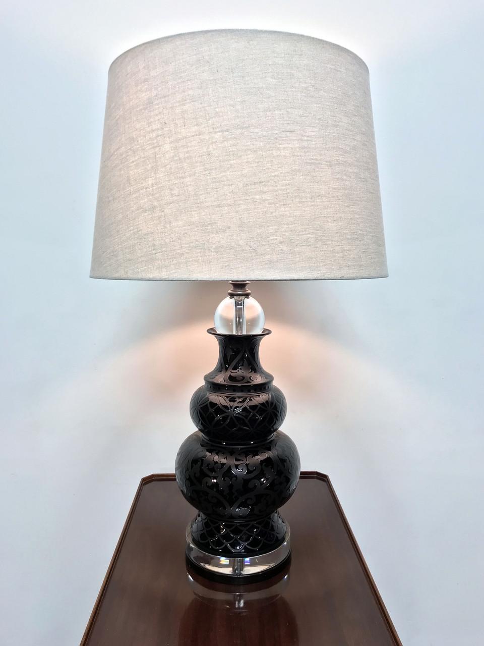 MAITLAND SMITH Contemporary Ceramic u0026 Lucite L& & MAITLAND SMITH Contemporary Ceramic u0026 Lucite Lamp - Boydu0027s Fine ...
