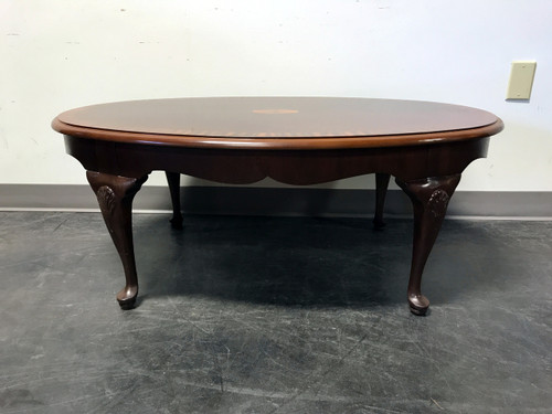 SOLD OUT DREXEL Banded Inlaid Mahogany Queen Anne Coffee Table
