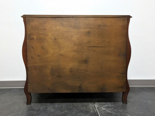 Vintage French Provincial Louis XV Style Walnut Bombe Bachelor Chest