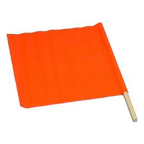 SP 3006648 18'' Safety Flag with  24'' Wooden Staff