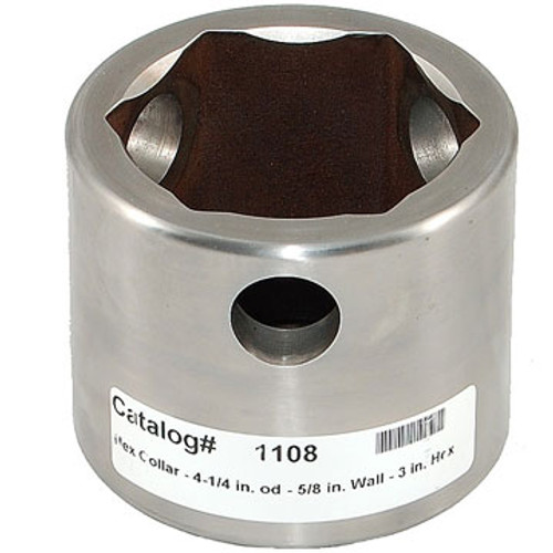 "RH 1108 Railhead Quick Connect Hex Collar, 4"" OD 5/8"" Wall Boring Collar"