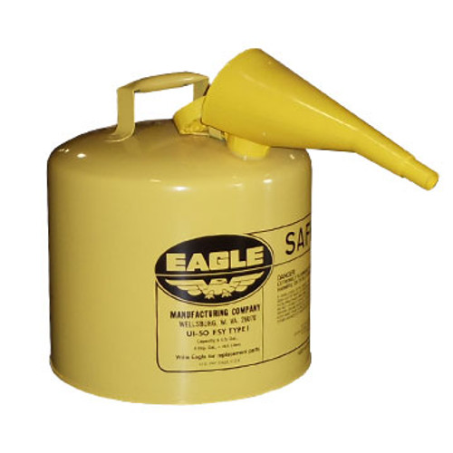 EM UI50FSY 5 Gallon Yellow Safety Gas Can Diesel