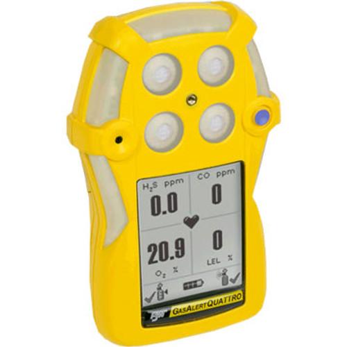 BW QTXWHMAYNA Gas Alert Quatro 4-gas detector Alkaline Version, LEL, O2, H2S, CO