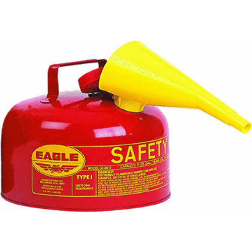 EM UI20FS 2 Gallon Red Safety Gas Can