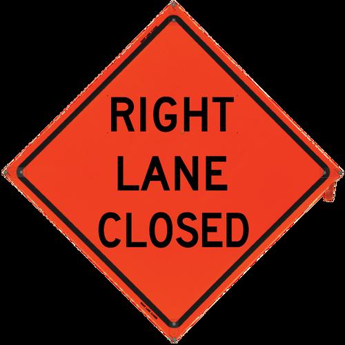 Right Lane Closed (Non-Reflect