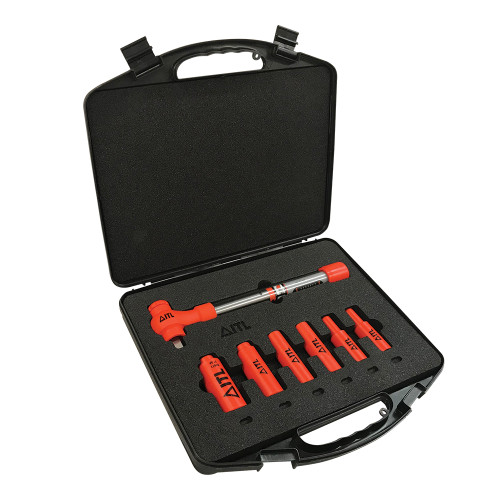 1000V Insulated 1/2-inch Drive Torque Wrench Set, 7-Piece