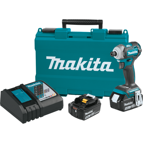 Makita XDT12T  18V LXT® Lithium‑Ion Brushless Cordless Quick‑Shifta Mode™ 4‑Speed Impact Driver Kit (5.0Ah)