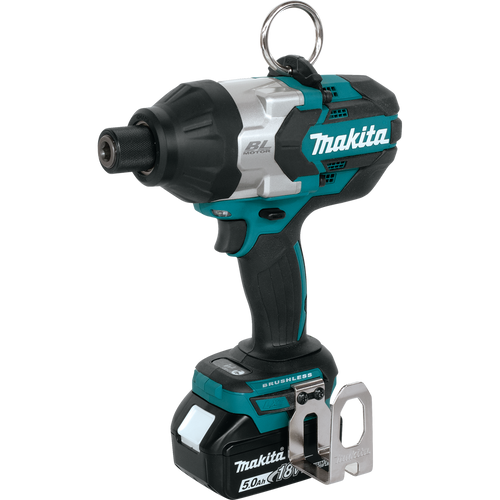 "Makita XWT09T 18V LXT® Lithium‑Ion Brushless Cordless High Torque 7/16"" Hex Impact Wrench"