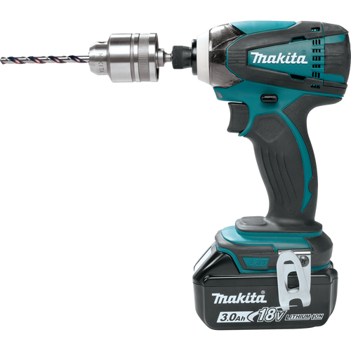 "Makita 763198-1 3/8"" Keyless Chuck Adapter on an impact driver."