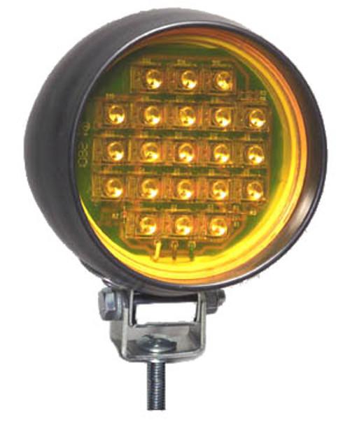 "NA HRLEDQR-A 12/24 V Amber Bezel Mount, 4"" Round LED"
