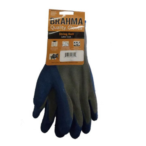 GL 39-C1305-LRG Glove, Latex Crinkle Grip Blue/Gry Palm Thumb & fingers G-TEK Size: Large
