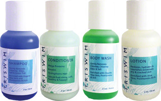 Triswim Chlorine Removal Hair and Skin Care Shot Set: Four 2oz Bottles