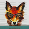 Pre-Order Hipster Fox Panel Cotton/Lycra