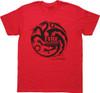 Game of Thrones Targaryen Red Heather T Shirt Sheer