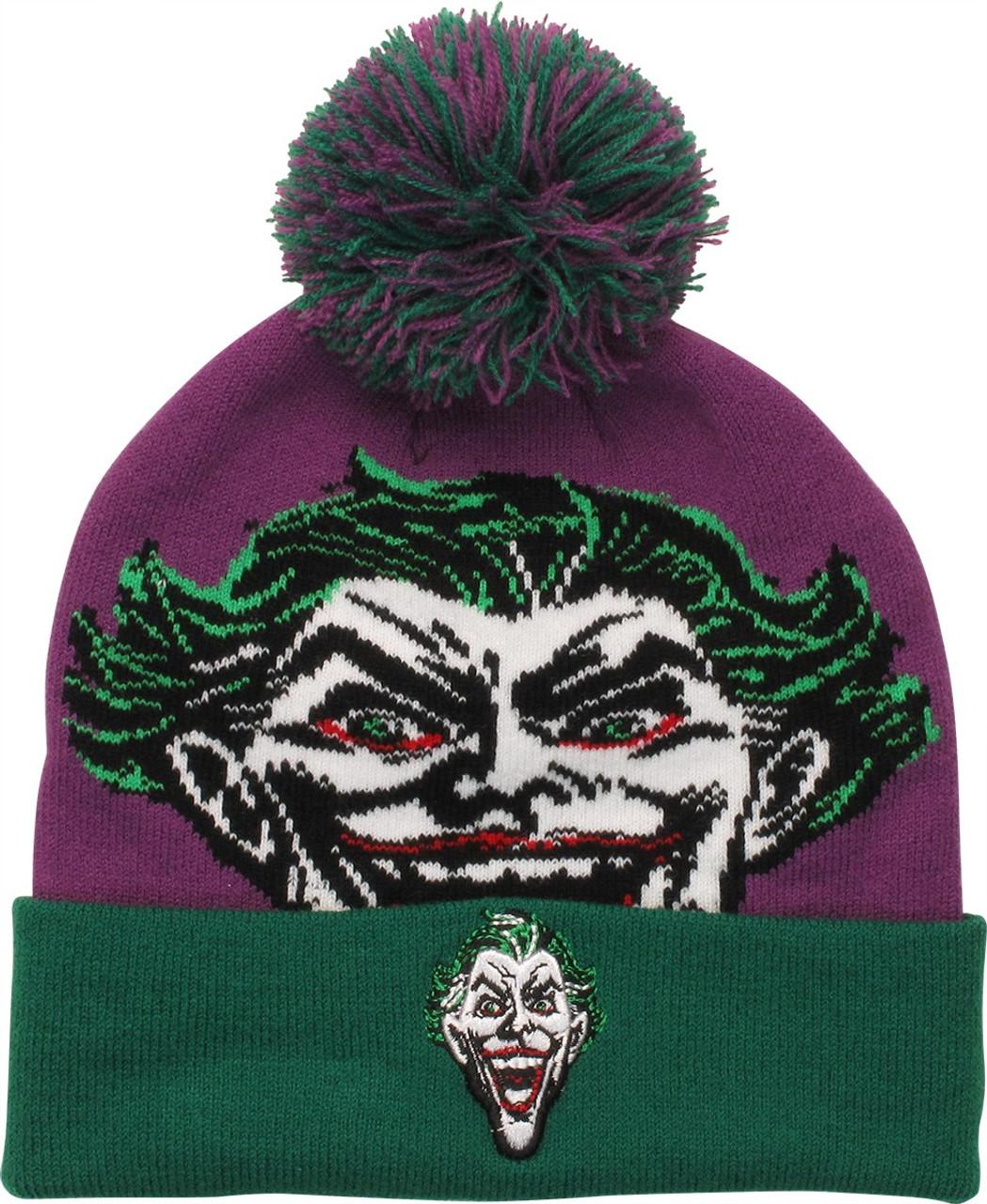 5546acd167e Joker Face Cuff Pom Beanie
