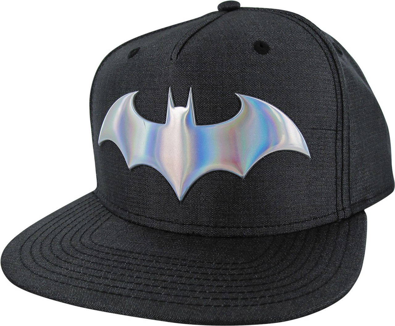 brand new 645b2 ae79d ... coupon code for batman iridescent logo woven fabric snapback hat 481d6  6a38a