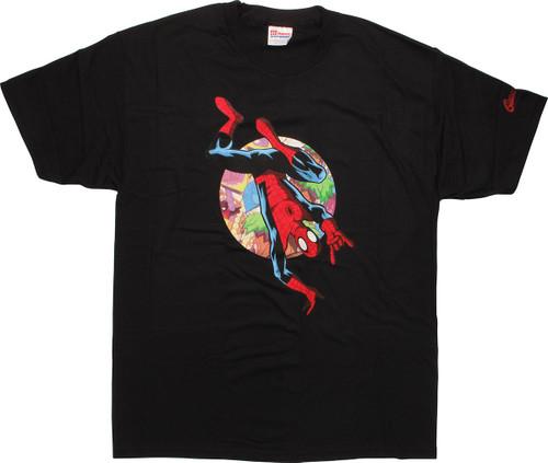 spiderman upside down t shirt