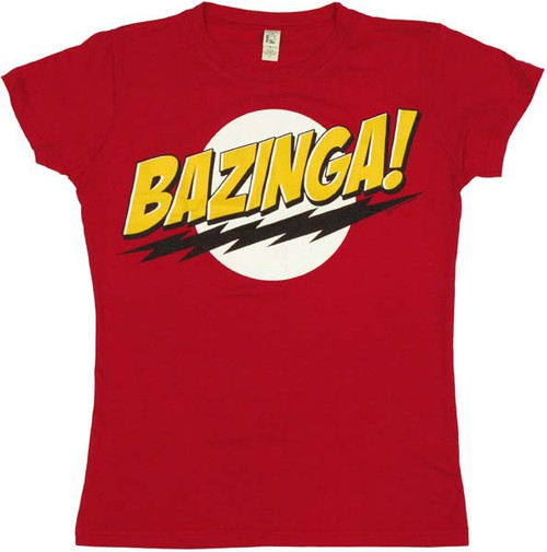Big Bang Theory Bazinga Juniors T-Shirt