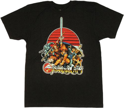 Thundercats Group Name T Shirt Sheer