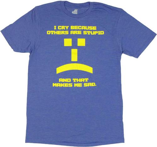 Big Bang Theory Emoticon T Shirt Sheer