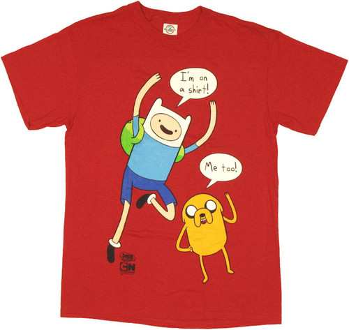 467140dc584 Adventure Time I m On a Shirt Red T Shirt