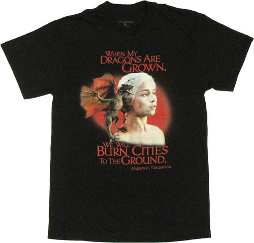 Game of Thrones Daenerys Dragons T Shirt