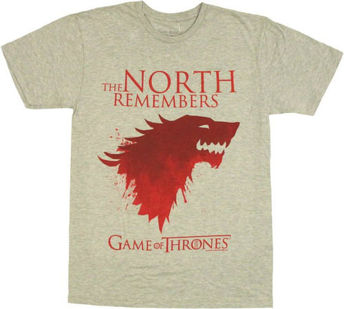 Game of Thrones North Remembers T Shirt Sheer