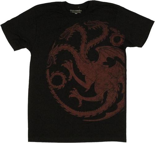 Game of Thrones Targaryen Vintage T Shirt Sheer