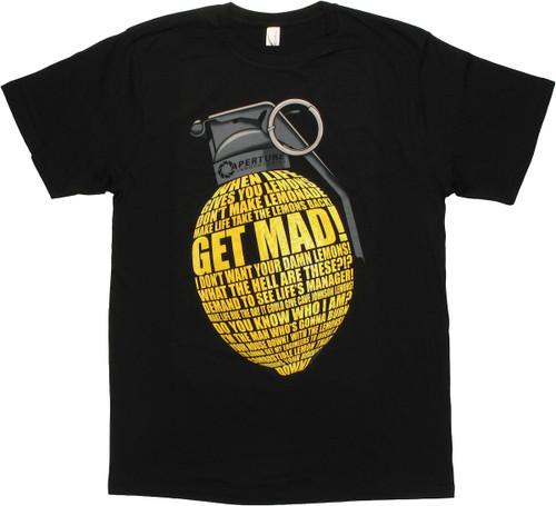Portal 2 Lemon Grenade T Shirt Sheer