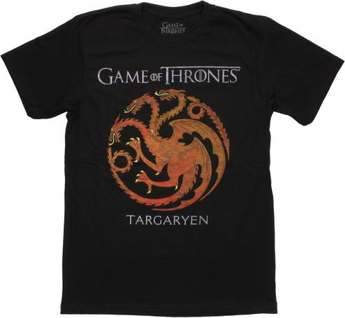 Game of Thrones Targaryen Faded T Shirt Sheer