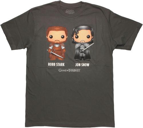 Game of Thrones Toon Robb Jon T Shirt Sheer