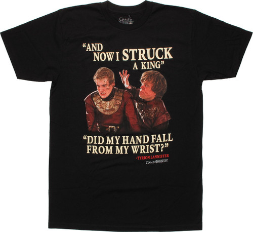 Game of Thrones Struck King T Shirt Sheer