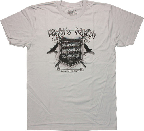 Game of Thrones Nights Watch Oath T Shirt Sheer