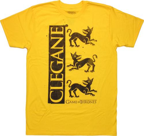 Game of Thrones Clegane Sigil T Shirt Sheer