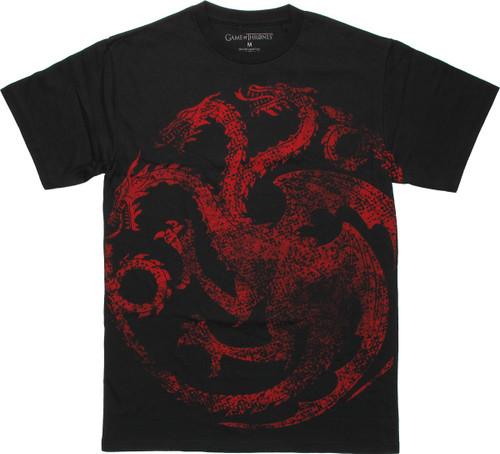 Game of Thrones Targaryen Centered Vintage T Shirt