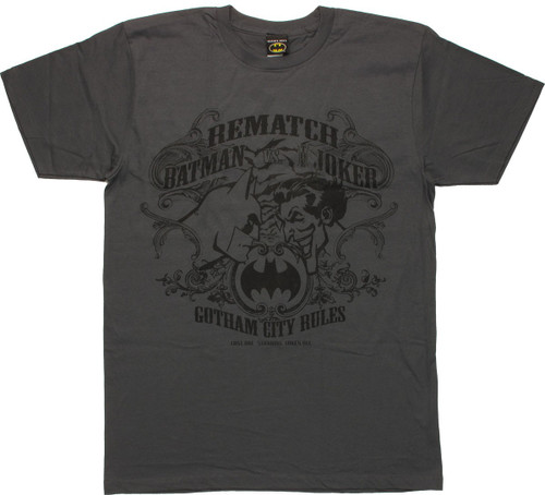 Batman vs Joker Rematch T Shirt Sheer