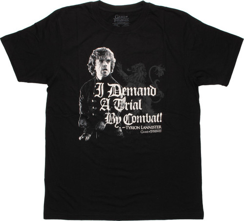 Game of Thrones Tyrion Trial By Combat T Shirt