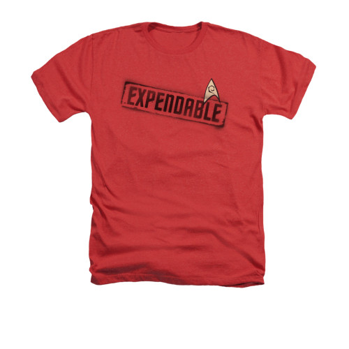 Star Trek Expendable Red Heather T Shirt