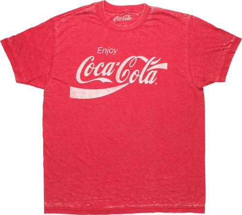 Coca-Cola Distressed Logo Red Burn T-Shirt