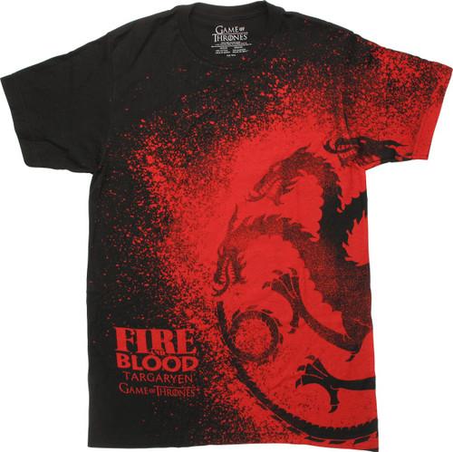 Game of Thrones Targaryen Sigil Splatter T-Shirt