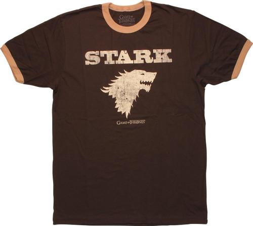 Game of Thrones Stark Insignia Ringer T-Shirt